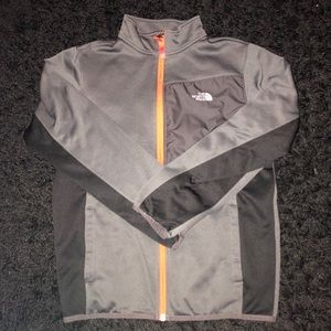 The North Face Boys Zip Up - Grey - Size L